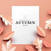 Autumn Background Layout Composition Design