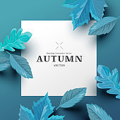 Square Autumn Promotional Background Layout