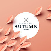 Autumn Paper Leaf Composition Background