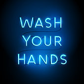 Wash Your Hands Neon Sign