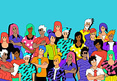A Group Of Multicultural People Characters