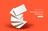 Vector Stack Of Business Cards Mockup