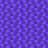 Triangle seamless violet background. Modern triangular geometric pattern. Polygon texture. Vector illustration.