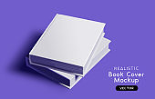 Vector Book Cover Blank Mockup Design