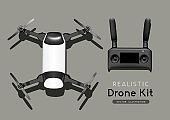 Vector Realistic Drone Kit and Controller