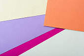 abstract geometric background with colorful paper