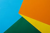 abstract geometric background with colorful bright paper