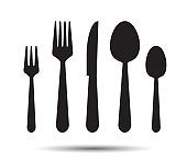 Knife, Fork and Spoon.