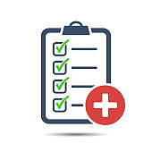 Check List Flat Icon. Medical checklist, test.