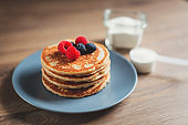 Pancakes made with collagen or protein powder.