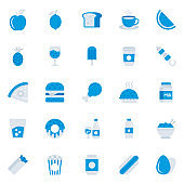 Healthy Food Flat Icons Pack