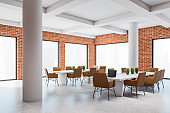 Loft brick conference room corner