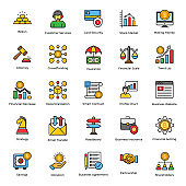 Business Insurance Flat Icons Pack