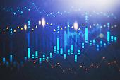 Stock market, digital chart interface