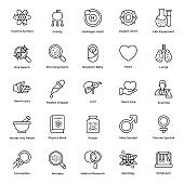 Bioscience Line Icons Vector Pack