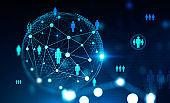 Social network digital interface, HR