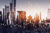 Day smart city panoramic view