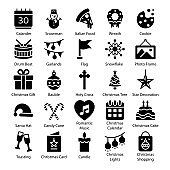 Pack Of Christmas Solid Icons
