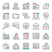 Pack Of Property Flat Icons