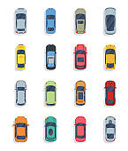 Collection of Cars Flat Illustrations Pack