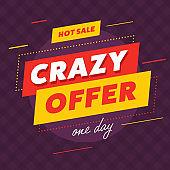 Hot sale promotion design on banner