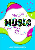 World Music Day, vector concept. Greeting card.