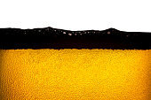 Beer bubbles. A little bit blurred on the edge of photo,Beer background image