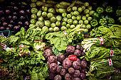 Close-up of leafy vegetables for sale in supermarket