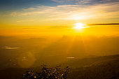 Majestic sunrise over the mountains ,Sunrise - Dawn, Sky, Mountain, Sunlight, Sun