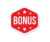 bonus box tag vector design template for polygonal shape label, sign and stamp marker