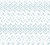 Sky Blue Christmas Fair Isle Seamless Pattern Background