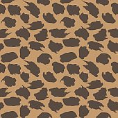Brown Camouflage Brush strokes Seamless Pattern Background
