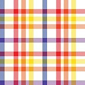 Rainbow Plaid Tartan Checkered Seamless Pattern