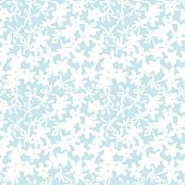 Sky Blue Floral Brush strokes Seamless Pattern Background