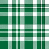 Green Plaid Tartan Checkered Seamless Pattern
