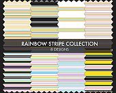 Rainbow Stripe Seamless Pattern Collection