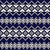 Pink Navy Christmas Fair Isle Seamless Pattern Background
