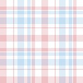 Sky blue Plaid Tartan Checkered Seamless Pattern