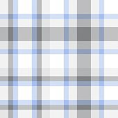 White Plaid Tartan Checkered Seamless Pattern