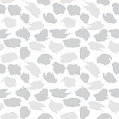 White Camouflage Brush strokes Seamless Pattern Background
