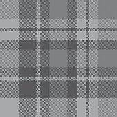 Grey Plaid Tartan Checkered Seamless Pattern