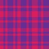 Purple Plaid Tartan Checkered Seamless Pattern