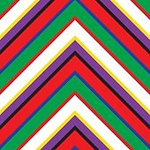 Rainbow Chevron Diagonal Stripes seamless pattern background