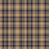 Brown Cream Plaid Tartan Checkered Seamless Pattern