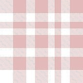 Pink Plaid Tartan Checkered Seamless Pattern