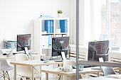Row of Desks in Office