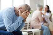 Devastated Husband in Clinic