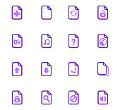 Purple icons set