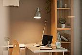 Cozy Workplace Background