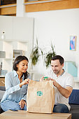 Office Workers Enjoying Takeout Lunch